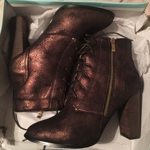 N.y.l.a olygma bronze sparkle heeled boots